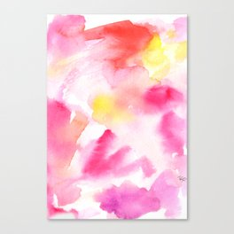 Pink watercolors Canvas Print