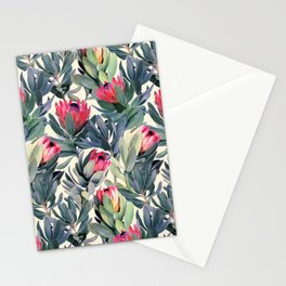 Painted Protea Pattern Stationery Cards