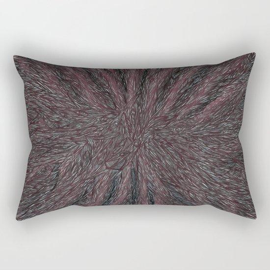 Abstract - Raven Flow. Rectangular Pillow