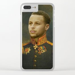 Steph Curry Classical Painting Clear iPhone Case