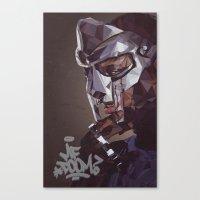 mf doom Canvas Prints featuring MF Doom by K-mu Toma
