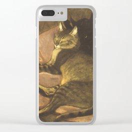 """Théophile Steinlen """"Chat allongé sur le sofa"""" Clear iPhone Case"""
