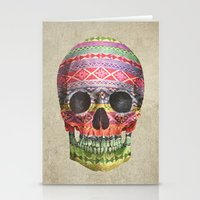 navajo Stationery Cards featuring Navajo Skull  by Terry Fan