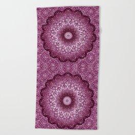 Cabernet Lace Mandala Beach Towel