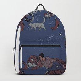 Tiger Pattern Backpack