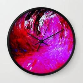 Abstract Red Storm by Robert S. Lee Wall Clock