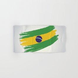 Abstract Brazil Flag Design Hand & Bath Towel