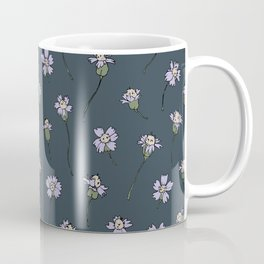 Dainty Wildflowers - Steel Blue & Lilac Coffee Mug