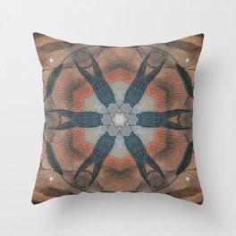 Bushfire Gum Medallion 7 Throw Pillow
