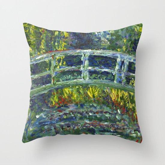 Monet Interpretation Throw Pillow