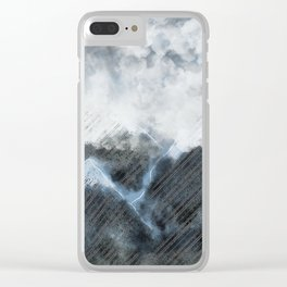 Stormy Mountains Clear iPhone Case