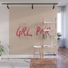 Girl Power GRL PWR - Typography and Lettering Wall Mural