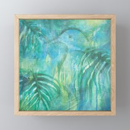 Kereru in New Zealand Foliage Framed Mini Art Print