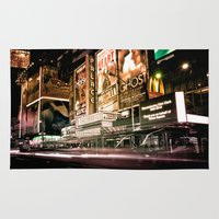 broadway Area & Throw Rugs featuring Lights on Broadway by Allen G.