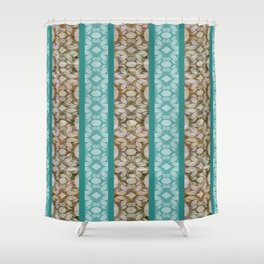 Contemporary Grain Patterns Shower Curtain