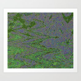 GORIAN MOSS GROWING ON FALIS THREE ON A CLOUDY DAY Art Print