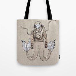 The mermaid diver Tote Bag