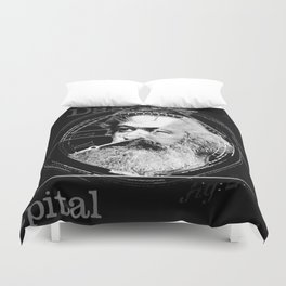 The Time of Marx Dark Duvet Cover