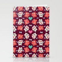 puppies Stationery Cards featuring Puppies by Maria Jose Da Luz