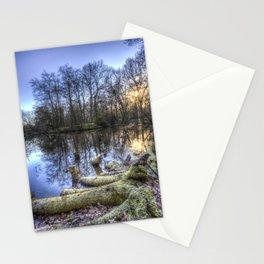 The English Morning Frosty Pond Stationery Cards