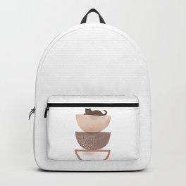 Hidden cat 7 abstract Pot balance  Backpack