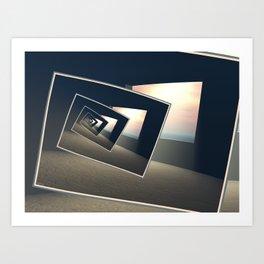Surreal Windows Art Print