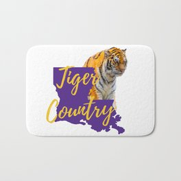 Louisiana State Map Tiger Country Gifts Bath Mat