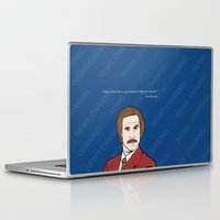 anchorman Laptop & iPad Skins featuring Ron Burgundy Anchorman  by Sheena White for Winsome Gallery