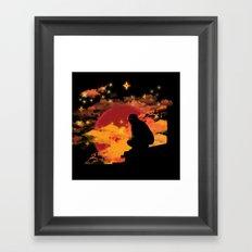 NINJA NIGHT SHOWDOWN Framed Art Print