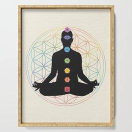 Sacred Geometry Merkaba Chakra Meditation Serving Tray