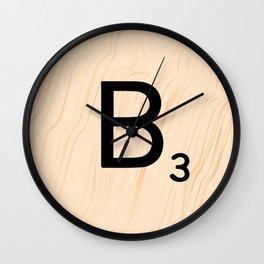 Scrabble Letter B - Large Scrabble Tiles Wall Clock
