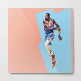 Slim Reaper KD #7 Basketball Player Metal Print