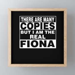 I Am Fiona Funny Personal Personalized Gift Framed Mini Art Print