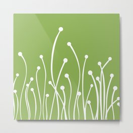 Greenery Botanical Modern Metal Print