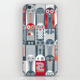 Tin Pot Owl-Bot Parliament  iPhone Skin