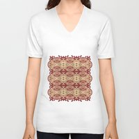 lace V-neck T-shirts featuring lace by Isabella Asratyan