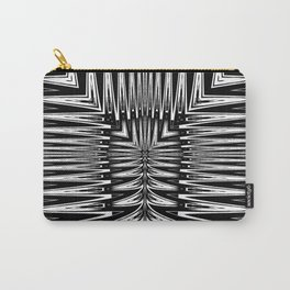 Geometric Black and White Traditional Tribal Pattern Carry-All Pouch