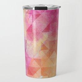 Triangles Pattern Travel Mug