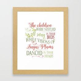 The night before Christmas - Christmas card Framed Art Print