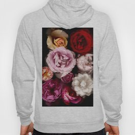 Red, White, Yellow, and Pink Roses Hoody