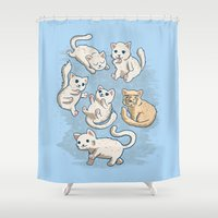 kittens Shower Curtains featuring Cute Kittens by ellygeh | Elly Medeiros