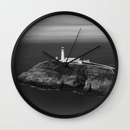 South Stack Lighthouse - Mono Wall Clock