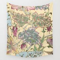 tiffany Wall Tapestries featuring tiffany garden by Ariadne