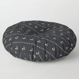 "Illustration . ""Scattering of black Diamonds."" Floor Pillow"