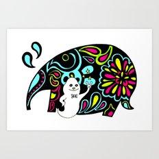 Elephank Art Print