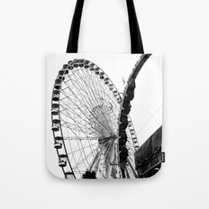 At the Fair: Round and Round Tote Bag