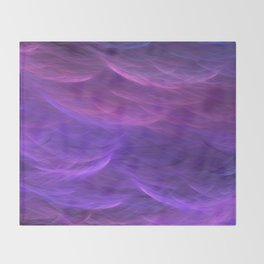 Pink and Purple Ultra Violet Soft Waves Throw Blanket