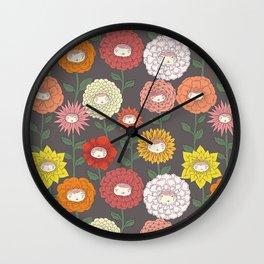 Talking Garden (gray) Wall Clock