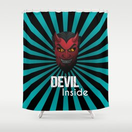 Devil Inside Mask Shower Curtain