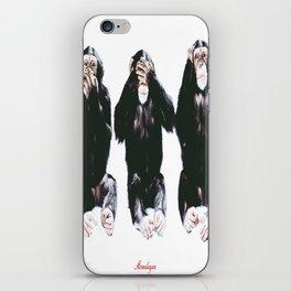 The three wise monkeys iPhone Skin